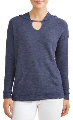 Thyme + Honey Women's Extra Soft Long Sleeve Tunic Sweatshirt