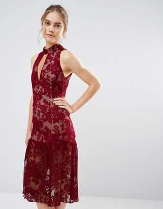 Endless Rose Frill Hem Key Hole Lace Dress