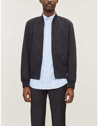 298769fbd Tommy Hilfiger Logo-embroidered slim-fit cotton-poplin shirt