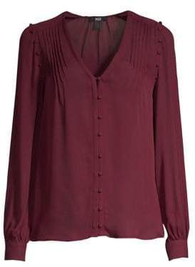 Paige Aurinda Silk V-Neck Blouse