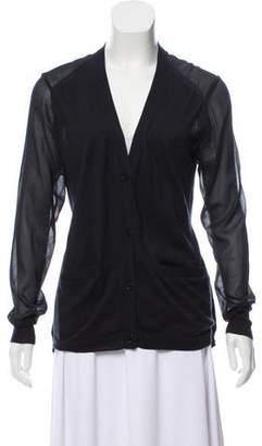 3.1 Phillip Lim Oversize Silk-Blend Cardigan