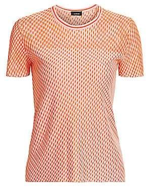 Akris Women's Diagonal Tweed Cashmere & Silk Knit Top