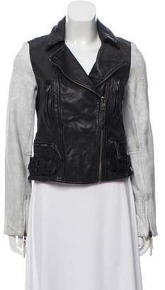 AllSaints Leather Moto Jacket