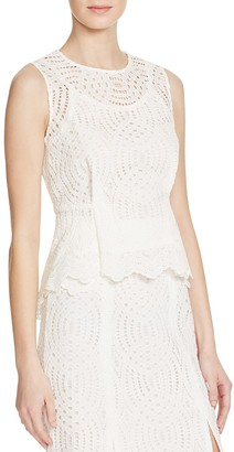 Whistles Clementine Lace Peplum Top - 100% Bloomingdale's Exclusive $300 thestylecure.com