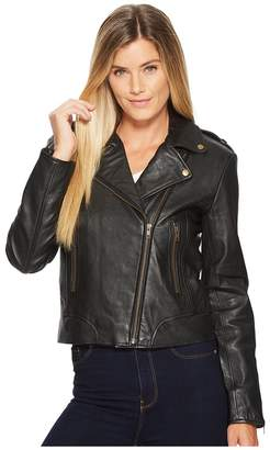 Scully Cosette Concealed Carry Leather Moto Jacket Women's Coat
