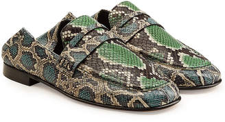 Isabel Marant Fezzy Snake Printed Leather Loafers