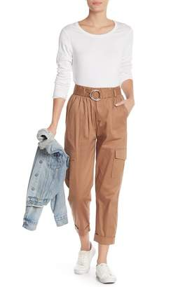 Know One Cares Twill Cargo Pants
