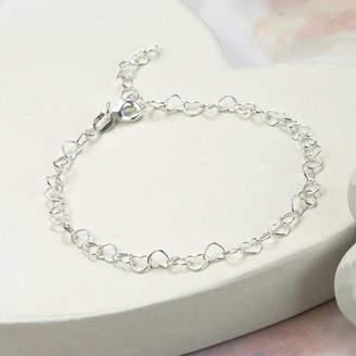 788f81ee655ed Martha Jackson Sterling Silver Sterling Silver Hearts Bracelet