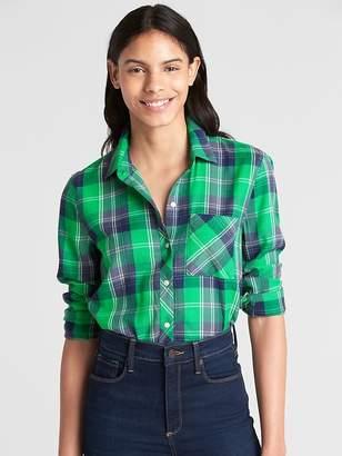 Gap Drapey Plaid Flannel Shirt