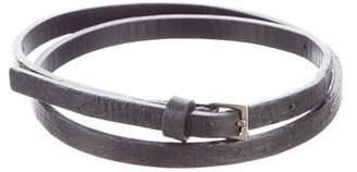 Ralph Lauren Ostrich Skinny Belt