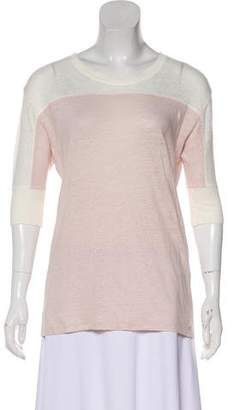 IRO Linen Short Sleeve Top