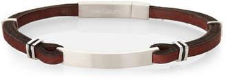Claude Brown Jean Leather & Stainless Steel Bracelet