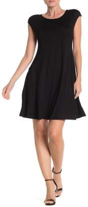 Spense Cascade Cap Sleeve Dress