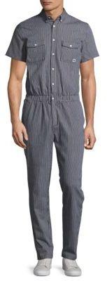 Button-Down Point Collar Jumpsuit $115 thestylecure.com