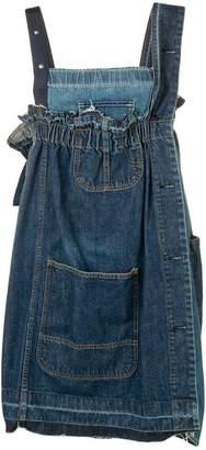 Sacai reworked denim pinafore dress