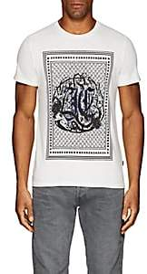 Just Cavalli MEN'S LOGO-PRINT COTTON T-SHIRT-WHITE SIZE M