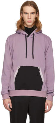 Diet Butcher Slim Skin Purple Panelled Pullover Hoodie