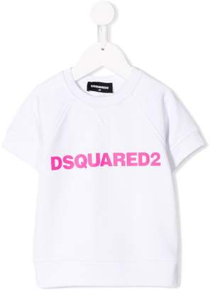 DSQUARED2 logo print sweat top