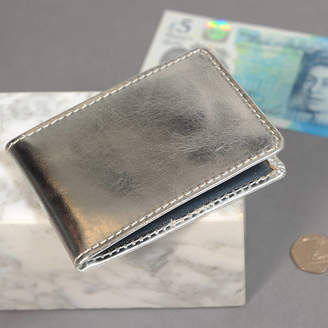 Undercover Metallic Leather Travel Card Wallet