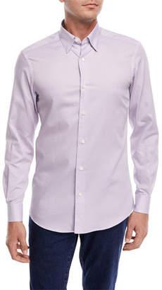 Ermenegildo Zegna Small Dot-Print Sport Shirt