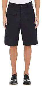 Marni MEN'S COTTON-BLEND PIQUÉ SHORTS-BLACK SIZE 46 EU