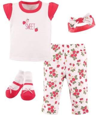 Hudson Baby Newborn Baby 4-Piece Layette Gift Set