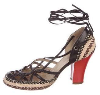Dries Van Noten Leather Woven Sandals