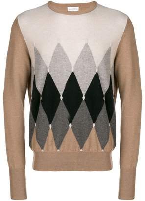 Ballantyne argyle knit sweater