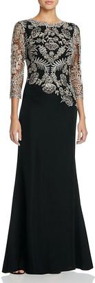 Tadashi Shoji Lace Bodice Gown $508 thestylecure.com