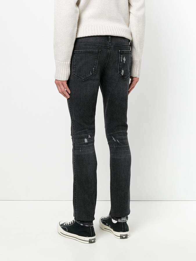 RtA distressed skinny jeans