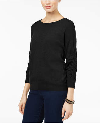 INC International Concepts I.n.c. Ruched-Sleeve Sweater