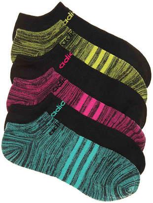 adidas Black Marled Superlite No Show Socks - 6 Pack - Women's