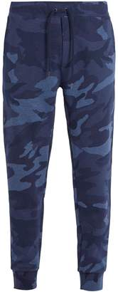 Camouflage-print cotton-blend track pants