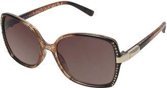 ROCAWEAR Rocawear Rhinestone-Accent Square Sunglasses $28 thestylecure.com