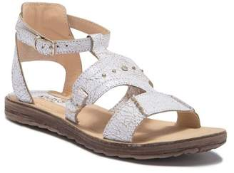 Khrio Crackle Leather Sandal
