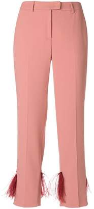 Incotex cropped fringed trousers