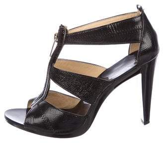 MICHAEL Michael Kors Patent Leather Multistrap Sandals