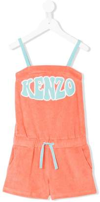 Kenzo logo embroidered playsuit