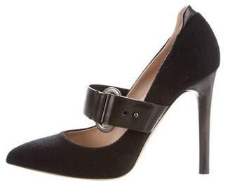 Reed Krakoff Felt Pointed-Toe Pumps