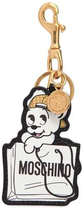 Moschino Pudgy Leather Key Chain