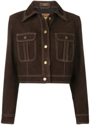 Philosophy di Lorenzo Serafini studded collar jacket