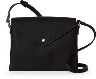 Street Level Black Button Envelope Crossbody
