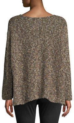 eskandar Pebbled-Knit Oversized Sweater