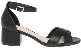 Le Château Women's Criss-Cross Ankle Strap Sandal