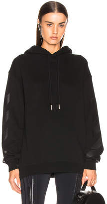 Off-White Off White Diagonal Long Hoodie in Black | FWRD