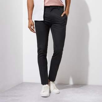 River Island Mens Grey super skinny smart trousers