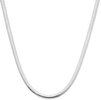 PRIVATE BRAND FINE JEWELRY Made in Italy Sterling Silver 18 Diamond-Cut Snake Chain Necklace