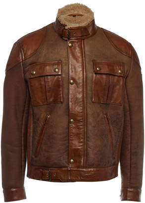 Belstaff Gangster Leather and Shearling Jacket