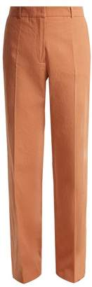 Vanessa Bruno Gauvain High Rise Flared Trousers - Womens - Dark Pink