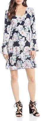 Karen Kane Taylor Bell Sleeve Floral Print Dress